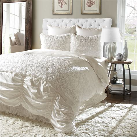 lush bedding sets lush d 233 cor rosemonde 5pc ivory comforter set home bed