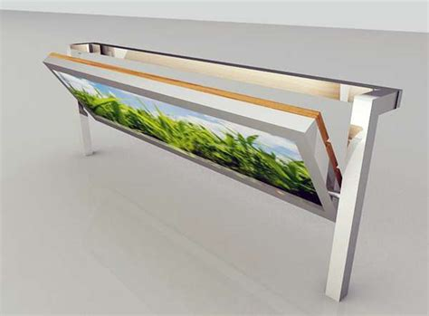 fold out work bench fold out ad seating relja perunovic billboard bench
