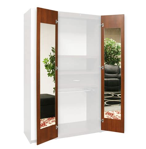 Interior Doors With Mirrors Wardrobe Closet Mirrored Interior Door Mirrors 165 Degree Hinges Contempo Space