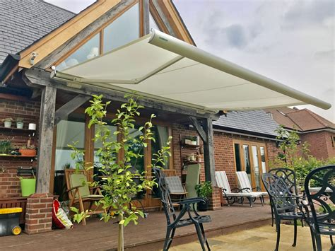 retractable awnings uk weinor patio awning fitted in wiltshire awningsouth