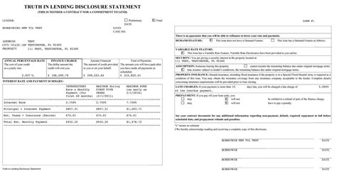 Letter Of Credit Disclosure In Financial Statement In Lending Disclosure Statement