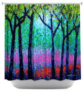 shower curtain artistic woodland contemporary
