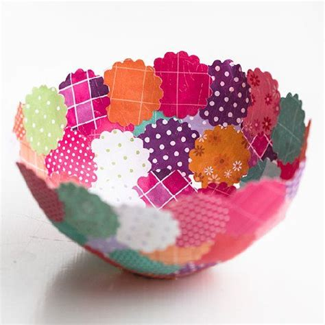 How To Make Paper Bowls - how to make paper bowls eindejaars cadeautjes