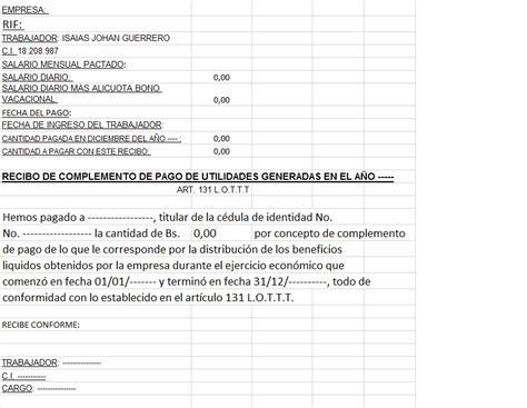 cmo puedo imprimir un recibo de pago en la plataforma del modelo de recibo de pago de complemento de utilidades art