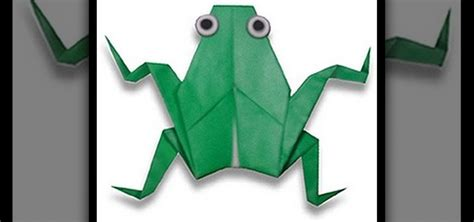 3d Origami Frog - how to make a 3d origami frog for origami beginners