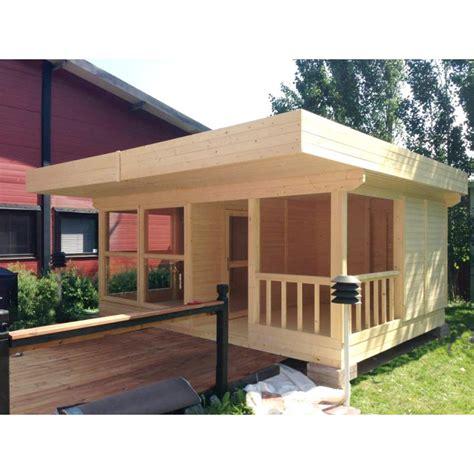 Garage Toit Terrasse 3531 by Maison De Jardin En Bois Massif 19m 178 Plancher Et
