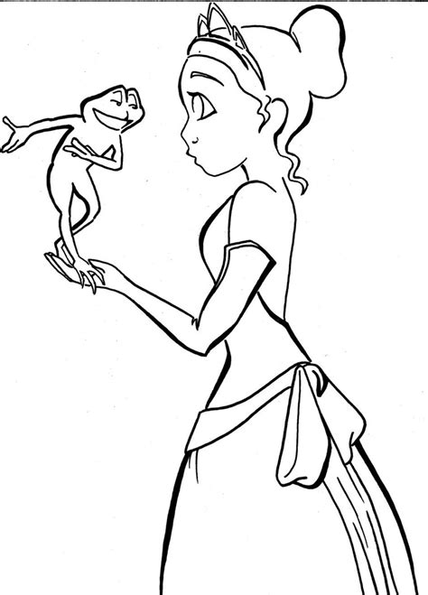 Frog Princess For 4rainynite By Cosmic Outcast On Deviantart From The Princess And The Frog Free Coloring Sheets