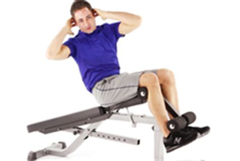 incline bench crunches fitness health magazine nutrition wellness workouts