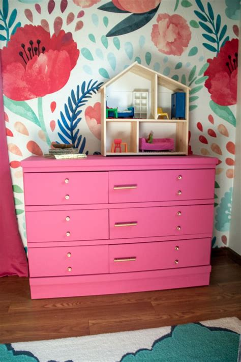 Pink Painted Dresser by Pink Painted Dresser With Gold Hardware Bright Green Door