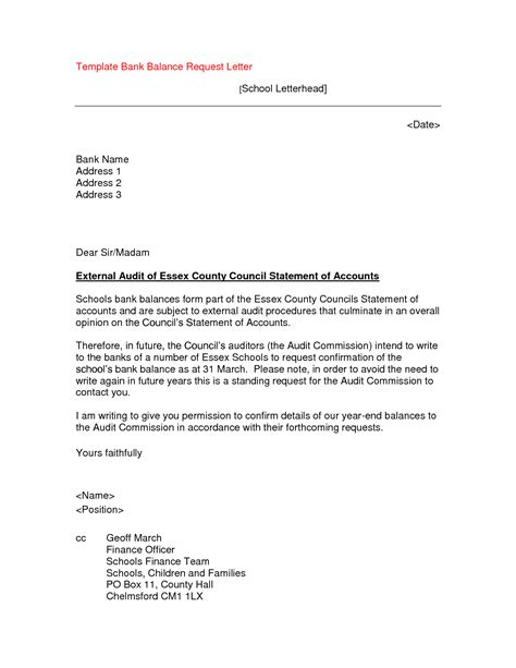 Bank Statement Letter Model Letter Format 187 Bank Statement Letter Format Cover