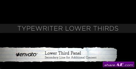 lower thirds after effects templates typewriter lower thirds project for after effects