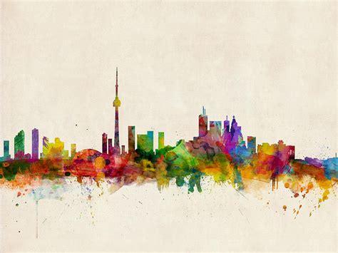 Toronto Artwork toronto skyline digital art by michael tompsett