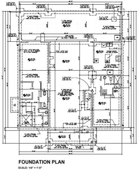 foundation layout exles mechanical drawings building codes northern architecture