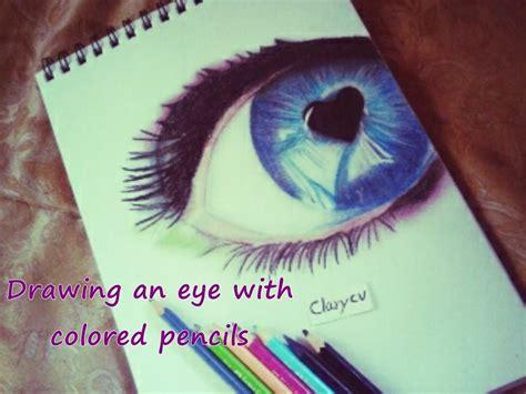 dibujo de ojo con lagrima realizado con lapices de grafito dibujo de un ojo con lapices de colores sencillo youtube