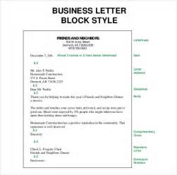 Exle Of Business Letter Block Style Business Letter Template 44 Free Word Pdf Documents Free Premium Templates