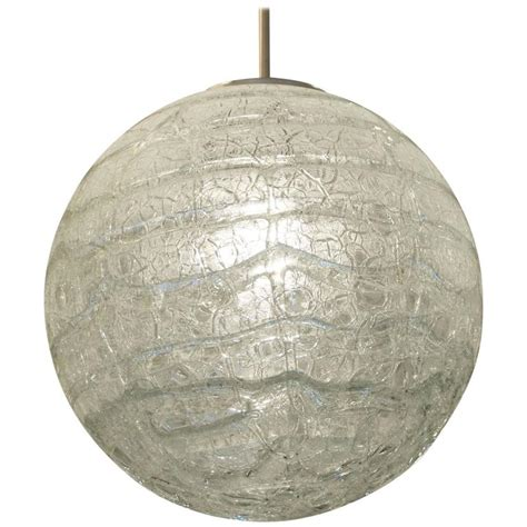 crackle glass l globe crackle glass doria globe two available for sale