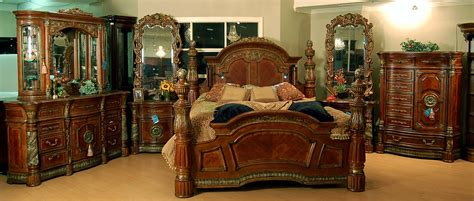 villa valencia bedroom set classic world chestnut bedroom set