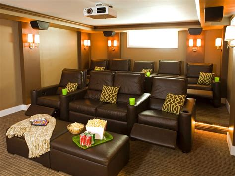 home theatre arrangement in living room photos hgtv