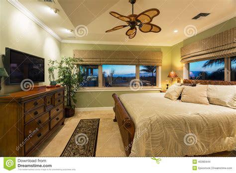 new interior design of bedroom beautiful bedroom interior in new luxury home stock photo