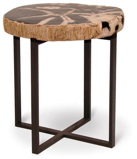 large accent tables black petrified wood accent table large eclectic side