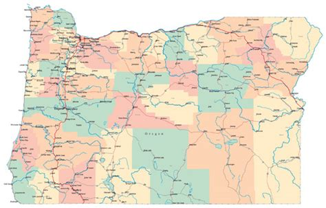 map of oregon state highways large administrative map of oregon state with roads