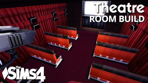 Curtain For Living Room The Sims 4 Room Build Theatre Youtube