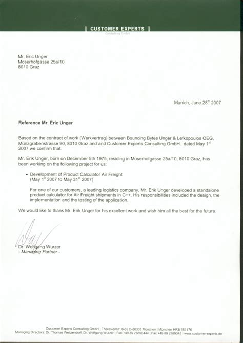 Recommendation Letter For Drivers Rsum Cv Erik Unger