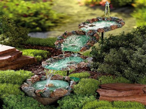 small water garden ideas waterfall wall small rock water fountains small