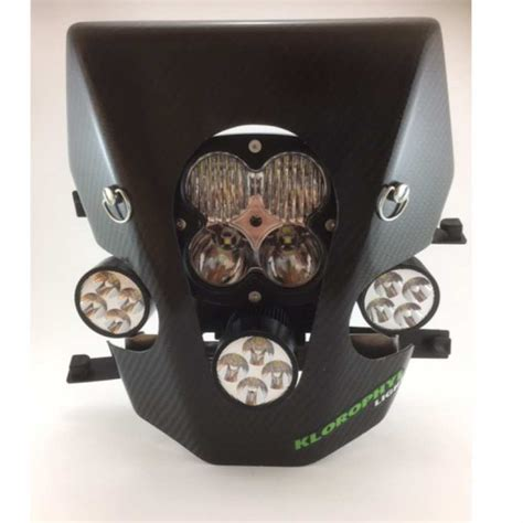 eclairage led moto enduro plaque phare led evo klorophyl light moto enduro