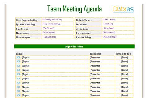 team meeting agenda template team meeting agenda template informal dotxes