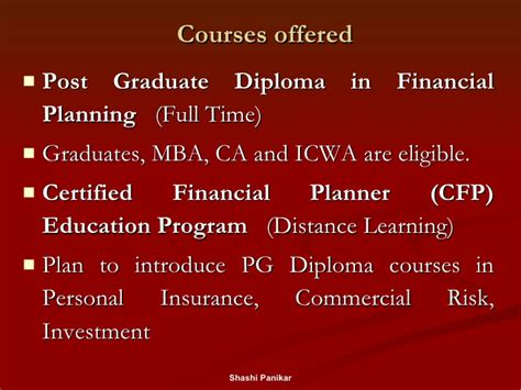Mba In Insurance And Financial Planning by Career Opportunities Presentation By The Economics Club