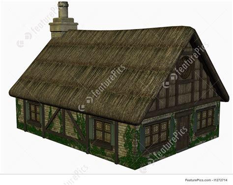 medieval cottage illustration