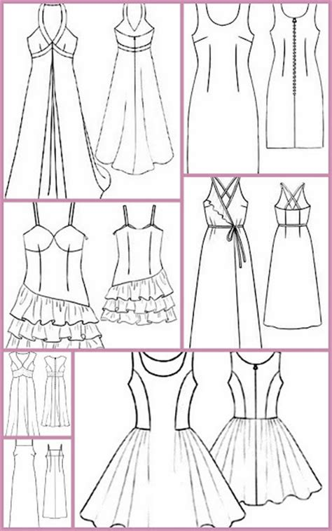 patrones y moldes de ropa gratis de vestidos de mujer para moldes de costura vestidos