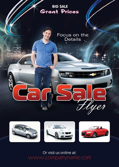 car sales flyer template photoshop version free flyer