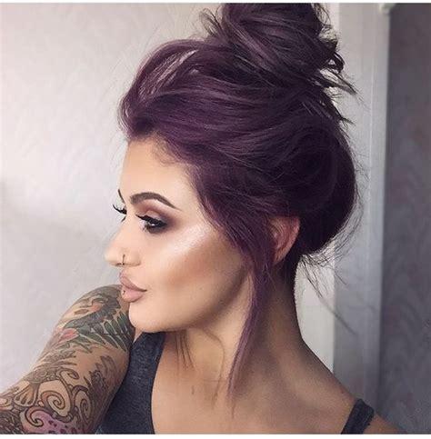 bold  provocative dark purple hair color ideas