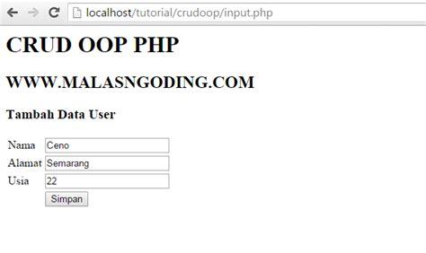 cara membuat crud dengan oop php membuat crud dengan oop php dan mysql part 2 malas ngoding