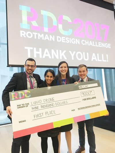 Rotman Mba Employment Report 2017 by Mmm Team Wins Rotman Design Challenge News