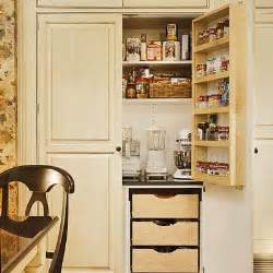 Pantry Ideas For Small Kitchens and helps the storage space blend in with the kitchen cabinetry