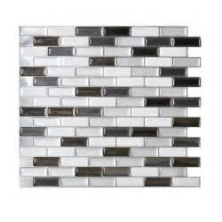 Peel And Stick Backsplash Home Depot Smart Tiles 10 20 In X 9 10 In Mosaic Adhesive