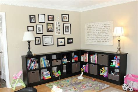 Toy Storage Ideas Living Room | it doesnt have to be toys i just like the arrangement