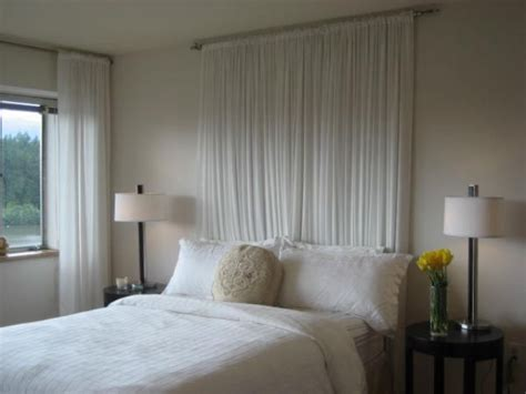 curtain headboard ideas whimsical headboard ideas without the actual headboard