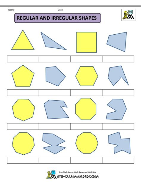 Polygon Shapes Worksheet by Printable Shapes 2d And 3d