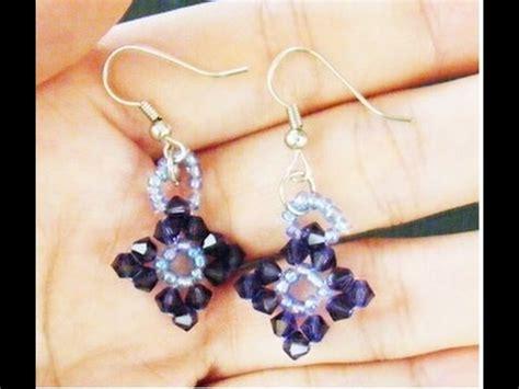 how to make swarovski jewelry how to make swarovski beaded earrings tutorial
