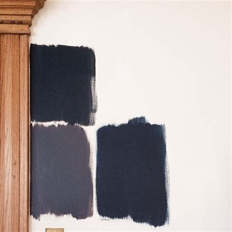 black paint swatch almost black making it lovely