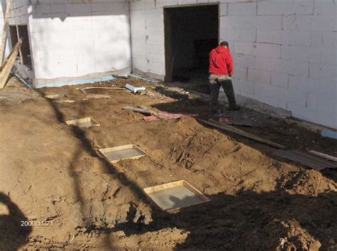 Patio Cover Post Footing by Post Footings In Porch Area For Stehr House In Highland