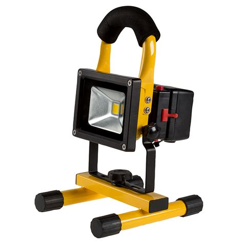 battery led work light 10w portable rechargeable led work light w usb charger