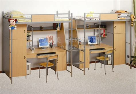 bunk bed with study table china sf 14r student dormitory iron bunk bed with study