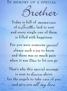 memorial poems for deceased brother google search