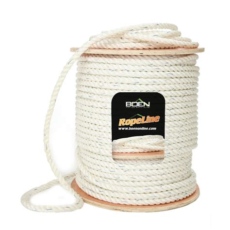 boen 1 in x 100 ft manila rope br 2040 the home depot