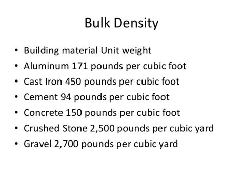 Crushed Rock Weight Per Cubic Yard Rigging Safety 7